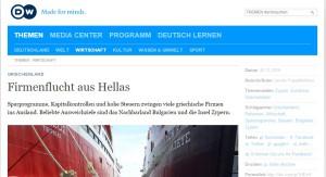"Rechtsanwältin Olga Dimopoulou im Interview mit der ""Deutschen Welle"" / Screenshot: Olga Dimopoulou/ Dimolegal"