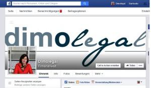 Die neue dimolegal-Facebook-Seite. / Screenshot: Olga Dimopoulou / dimolegal
